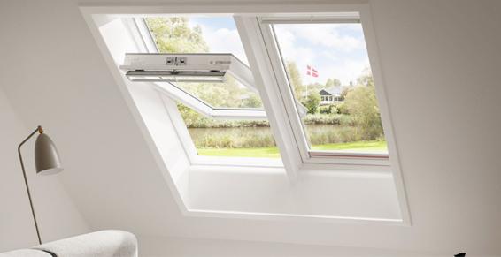 Fenêtre de toit Velux blanche