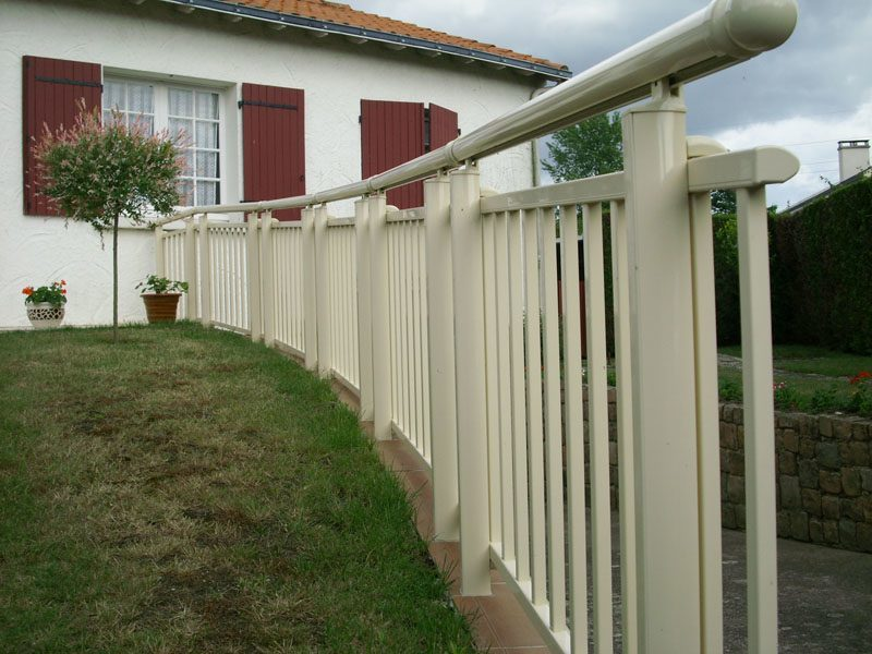 barriere, garde corps alu blanche