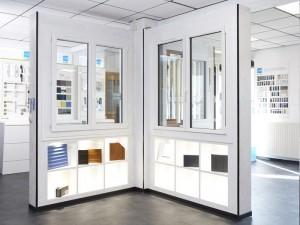 Thierry Micheneau showroom menuiserie à cholet , fenêtres alu, pvc et bois
