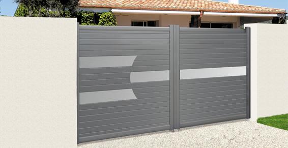 Pose et vente de portail gris design