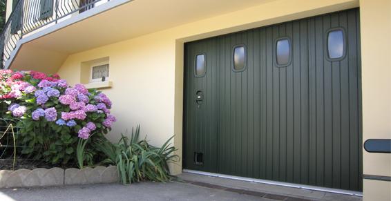 porte de garage sib norvège avec hublot