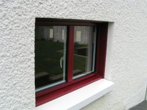 fenêtre alu couleur rouge kline