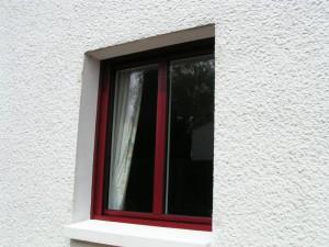 pose de fenêtre alu bordeau