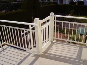 pose de portillon de protection terrasse blanche (cholet)